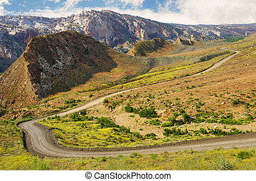 Cottonwood Canyon Road, Utah. - A beautiful scenic view of...