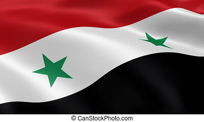 Syrian flag in the wind. Part of a series.
