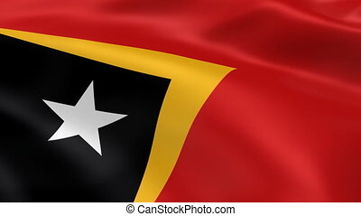 East Timorese flag in the wind