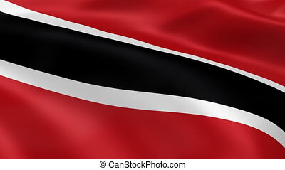Trinidad flag in the wind. Part of a series.