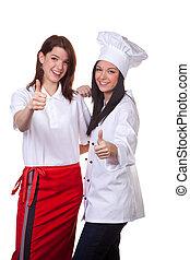 cozinheiro, Serviço, Força, mantido