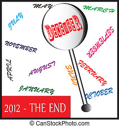 year 2012 - the end - This photo highlight the year 2012...