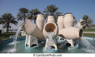 Water Jar fountain in Doha, Qatar - The Water Jar fountain...