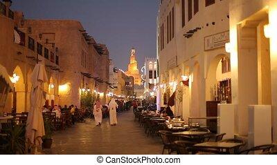 Souq Waqif at night, Doha - Souq Waqif at night, Islamic...