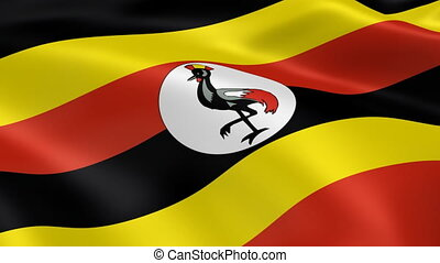 Ugandan flag in the wind Part of a series