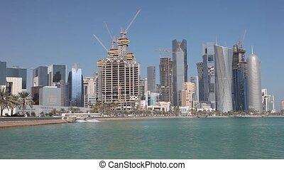 Doha skyline, Qatar, Middle East