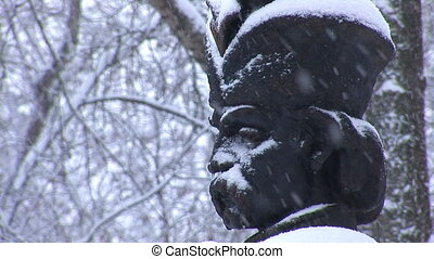 snow hetman 1 - Hetman bust in the snow