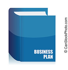 business plan agenda book illustration design on white...