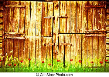 ドア, 納屋