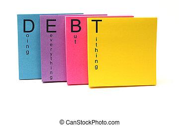 縮寫, 債務