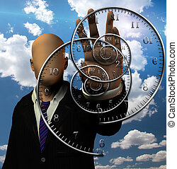 The time twister - Faceless man and time spirals