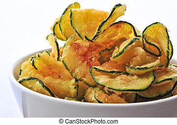 zucchini chips - deep fried zucchini, a moder alternative to...