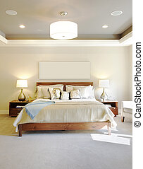 Bedroom in Luxury Home - New Bedroom in Modern Home