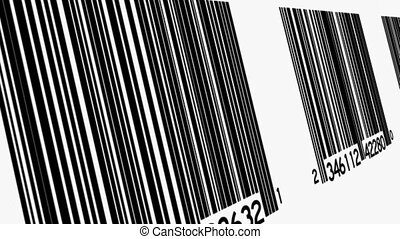 Bar Codes At Angle Background Loop