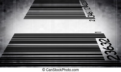 Bar Code Grunge Looping Backdrop - Looping Bar Code Grunge...