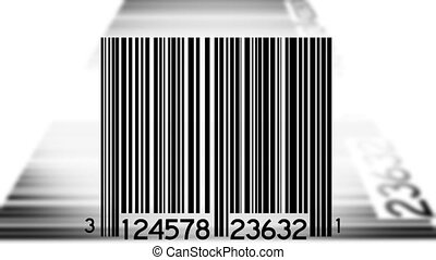 Bar Codes Scanned Background Two - Bar Codes Scanned Looping...