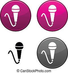 Mic button. - Mic round buttons. Black icon included. .