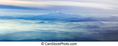 aerial view of the Alps - Austria, aerial view of the Alps...