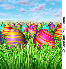 Easter Egg Hunt - Easter egg hunt and hunting for easter...