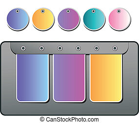 Set vector stickers - Banner Set vector stickers or label...