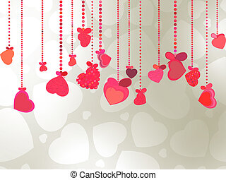 Elegant Valentine's or wedding illustration. EPS 8 vector...