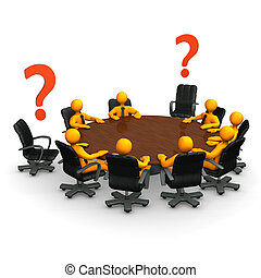 Incomplete - Orange cartoon characters on round table with...