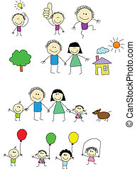 Happy people - Vector illustration of happy people...