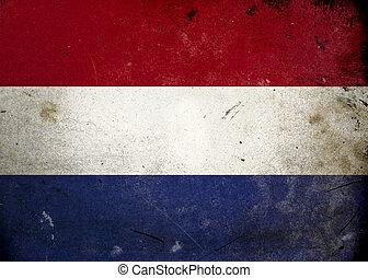Grunge Flag the Netherlands