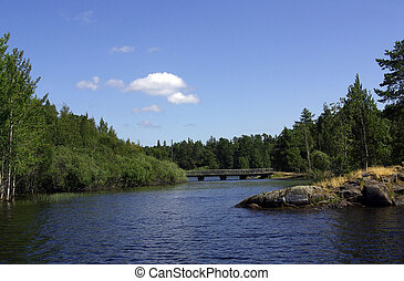 The island of Valaam in Lake Ladoga during the summer