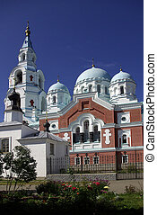 Valaam monastery in Karelia, Russia - sight of the Russian...