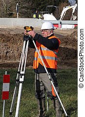 Man surveying site