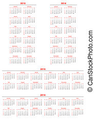 Template foe calendar 2013-2014; set2