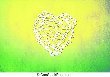 Valentine's colorful card, scribble heart