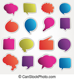 Speech bubbles vector set
