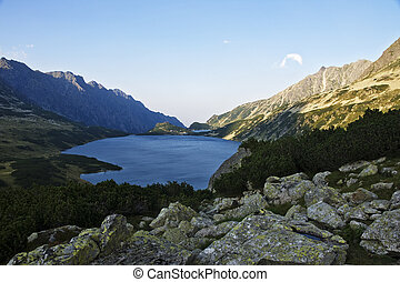 High Tatras area of the valley five pond.