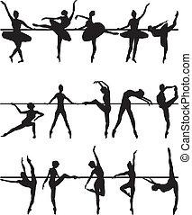 balé, Dançarinos, silhuetas