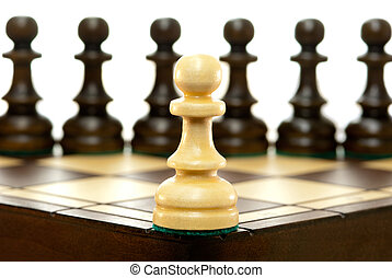 Danger - It is a lot of chessmen on a chess board. (are...