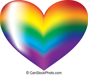 colorful heart - Colorful heart symbol on a white background