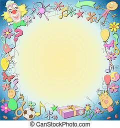 Fun Border - A Fun Childlike Sketched Border