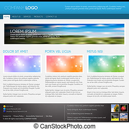 Vector Modern web page template - blue version