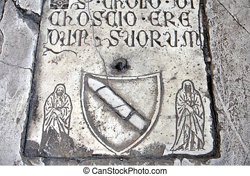 Pisa - Camposanto - Cemetery was constructed in 1278 to house the sacred dirt brought back from Golgotha during the Crusades. It then became the burial place of the Pisan upper class
