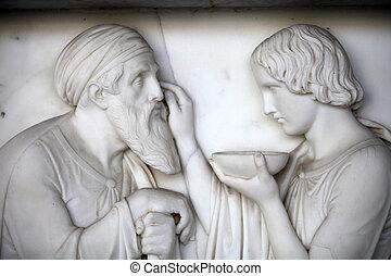 Pisa, -, Camposanto, -, cementerio, era, constructed, 1278,...