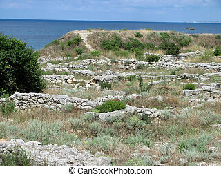 The remains of the ancient city