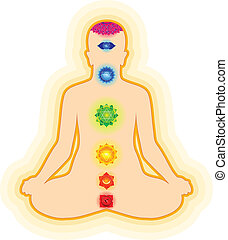 abstract chakra yoga template vector illustration