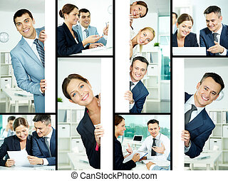 Business collage - Collage of friendly professionals...