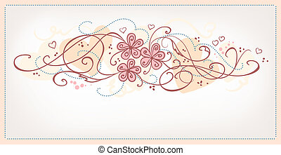 Cute pink flowers vintage background