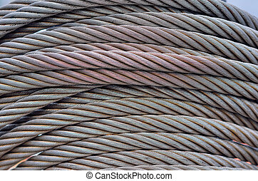 Wire Hawser - Wire rope texture - heavy duty steel wire...