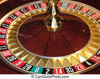 Roulette wheel - Close up photo of a Roulette wheel