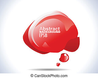 abstract red shiny banner template