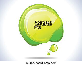 abstract green shiny banner